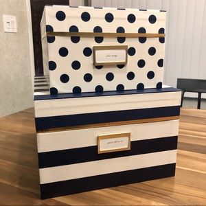 NWT Set of Two kate spade Nesting Boxes